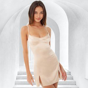NWT ARE YOU AM I Prissi Dress in Fawn